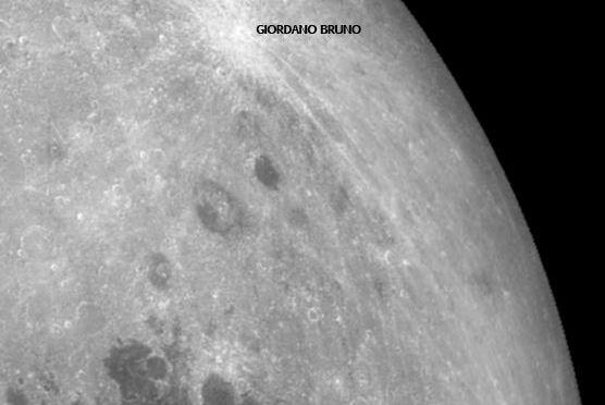 El cráter Giordano Bruno