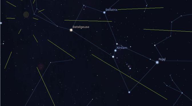 Oriónidas: estrellas fugaces de Octubre