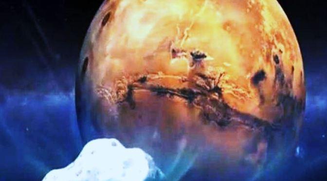 Un cometa hacia Marte