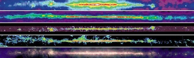 La vía Láctea en diferentes longitudes de Onda
