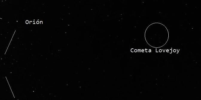 Observando el Cometa Lovejoy