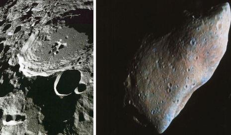 Luna y asteroide Gaspra