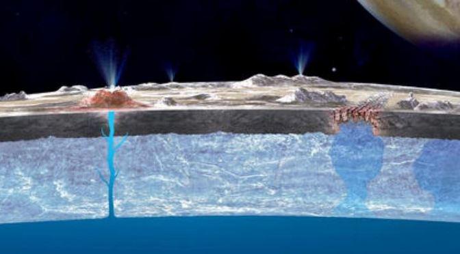 Descubiertos géiseres de agua en la Luna Europa de Júpiter