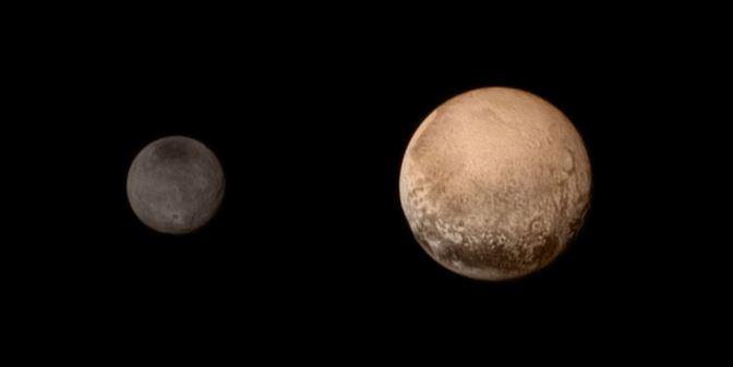 Dimensiones de Plutón y Caronte