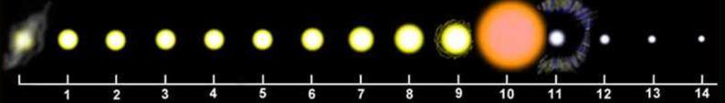 Ciclo vida del Sol