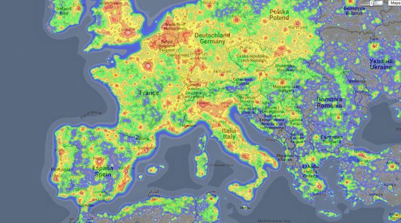 europa_contaminación lumínica