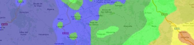Mapa global de contaminación lumínica