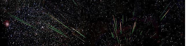El color de las estrellas fugaces