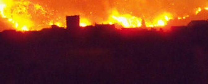 Desastres Medioambientales: El terrible incendio de 2012 en Bugarra