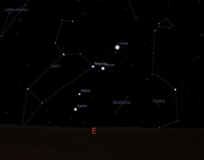 Observaciones astronómicas en octubre y noviembre