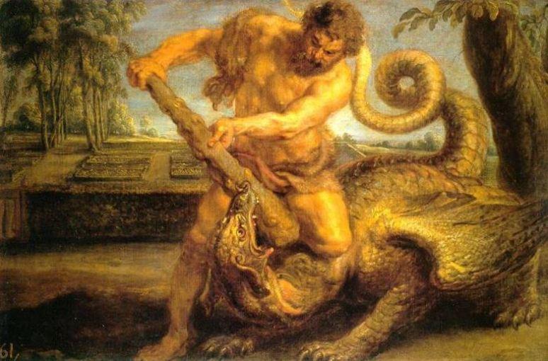 H rcules y el drag n la lucha en el jard n de las for Au jardin des hesperides