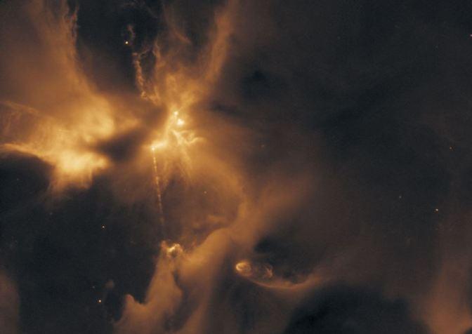 Espadas láser estelares: Jets estelares en HH24 en 3D