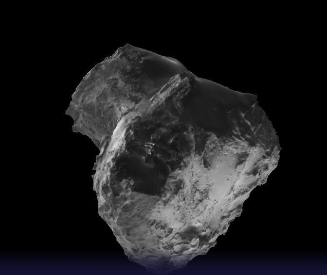 Paseando por un cometa