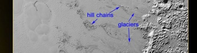Colinas flotantes en Plutón