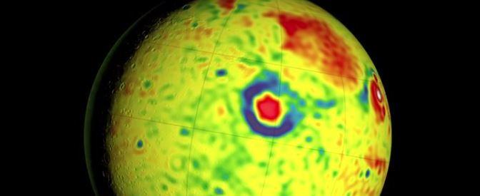 Mapa de la gravedad de Marte