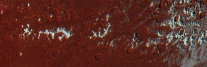Nieve en Plutón