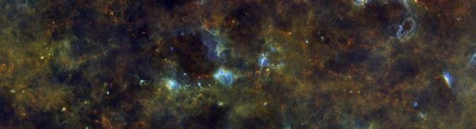 El plano de la Vía Láctea visto por Herschel