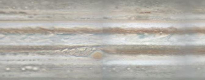 Júpiter bajo las nubes
