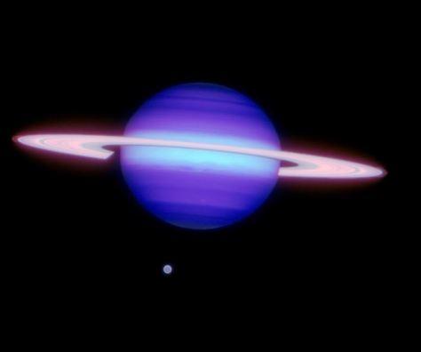 Saturno en infrarrojo