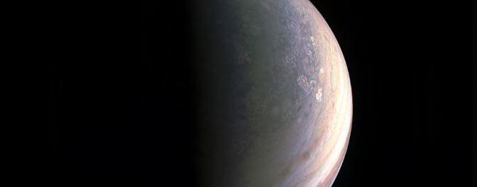 El polo norte de Júpiter