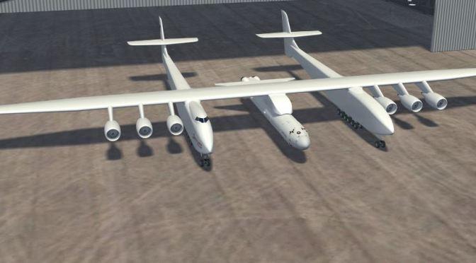 Stratolaunch: el avión más grande de la historia para lanzar naves espaciales