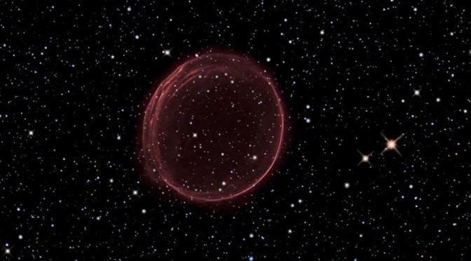 La nebulosa de la  burbuja roja