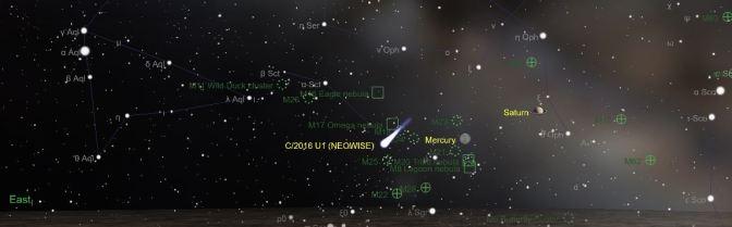 Un cometa visible a simple vista en enero