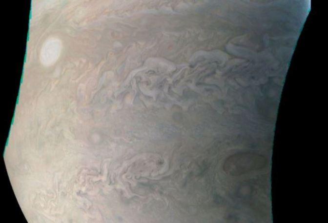 """El """"collar de perlas"""" de Júpiter"""
