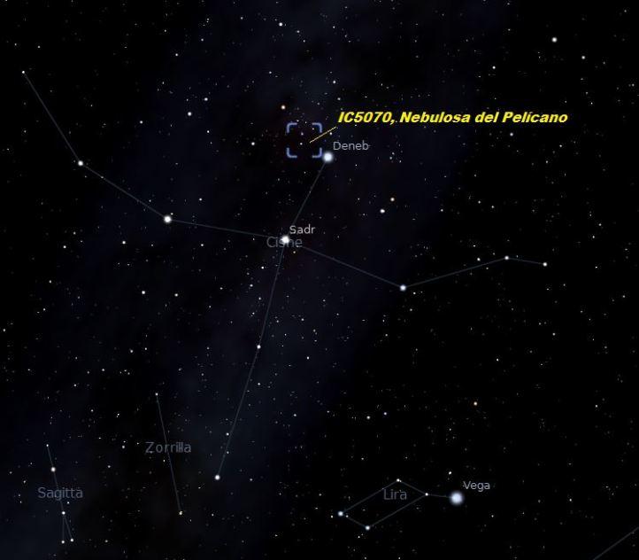 ubicación nebulosa pelícano