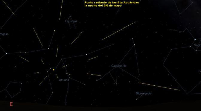 Una preciosa lluvia de meteoros en Mayo: las Eta acuáridas