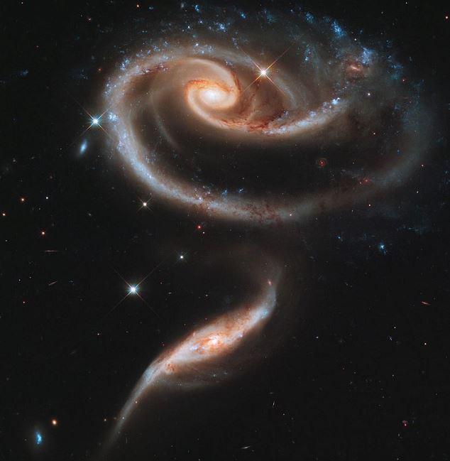 galaxias colisión