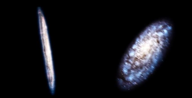 Las diferentes formas de las galaxias espirales según su perspectiva.