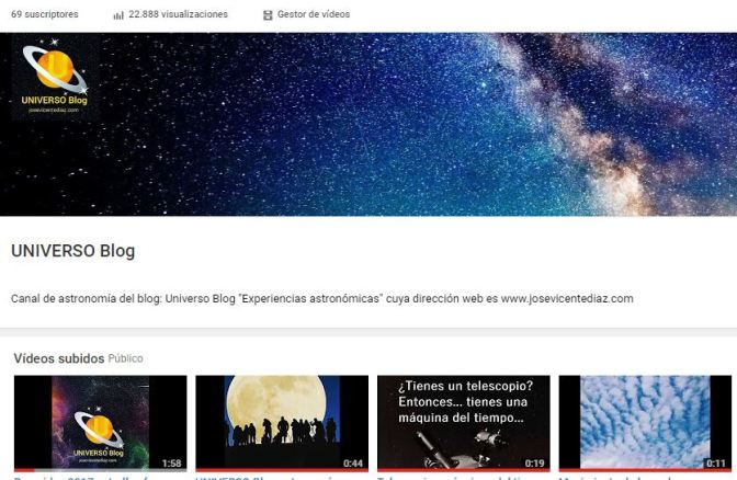 UNIVERSO Blog en Youtube