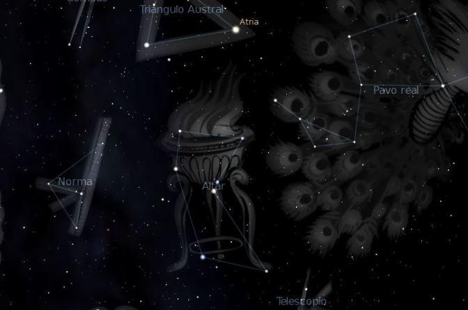 """La constelación de Ara: el """"Altar"""" de los dioses"""