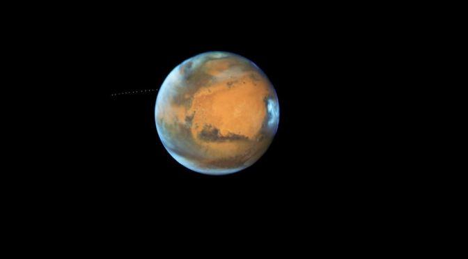 Marte espectacular en las noches del verano