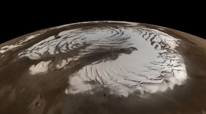Nieve en Marte
