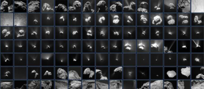 El precioso mosaico del cometa 67P/Chury