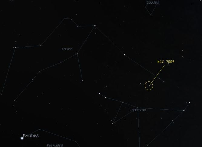 ngc7009 en el cielo