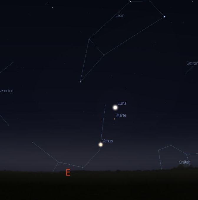 Maravillosas conjunciones planetarias en el amanecer
