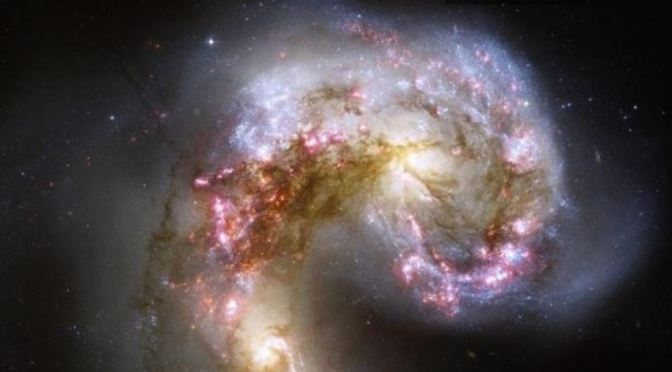 Las Galaxias de la Antena, la colisión de galaxias más cercana a la Vía Láctea