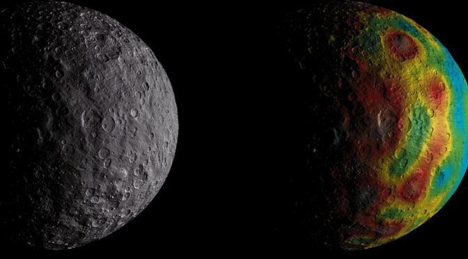 Rastros de un antiguo océano en Ceres