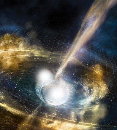 Resultado de imagen de Colapso gravitatorio de dos estrellas de neutrones