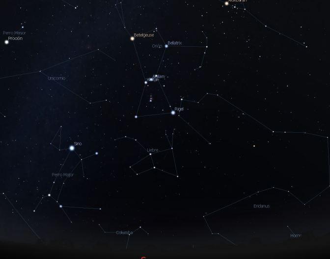 Infografía de efemérides astronómicas invernales
