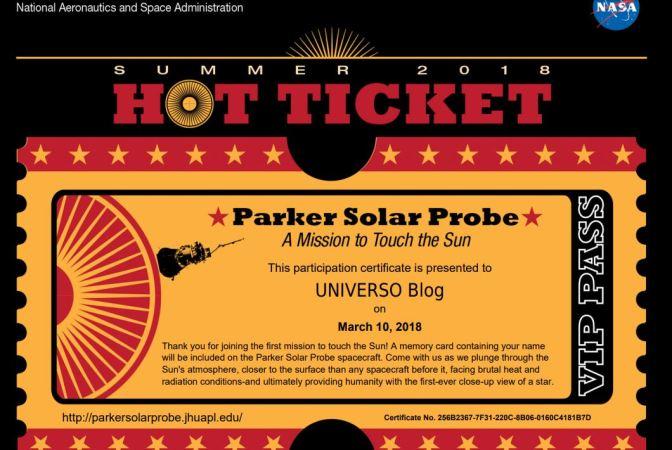 Envía tu nombre a nuestra estrella con la misión Parker solar Probe