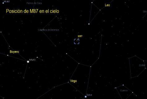 m87 en el cielo