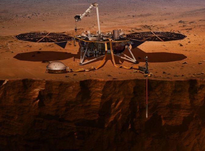 InSightla nave que estudiará el interior de Marte