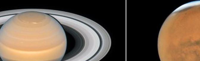 Nuevas imágenes de Saturno y Marte desde el Hubble