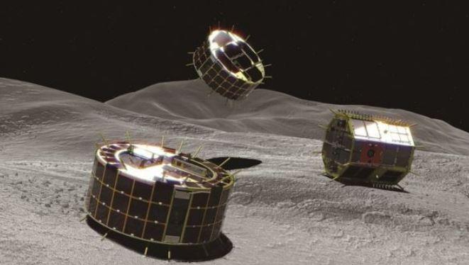 El primer robot móvil que aterriza en un asteroide