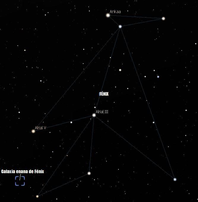 galaxia enana de fénix