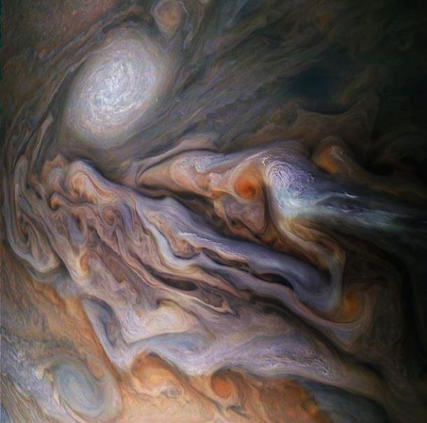 nubes júpiter NASA
